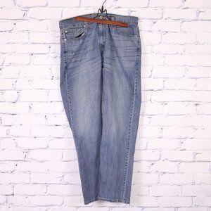 Levi's signature straight medium wash jeans 32L c2